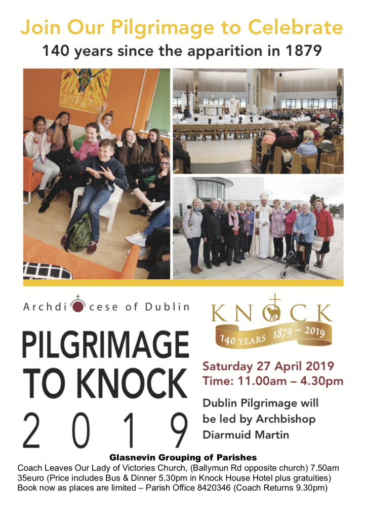 Poster for Our Lady of Victories 2019 Pilgrimage to Knock
