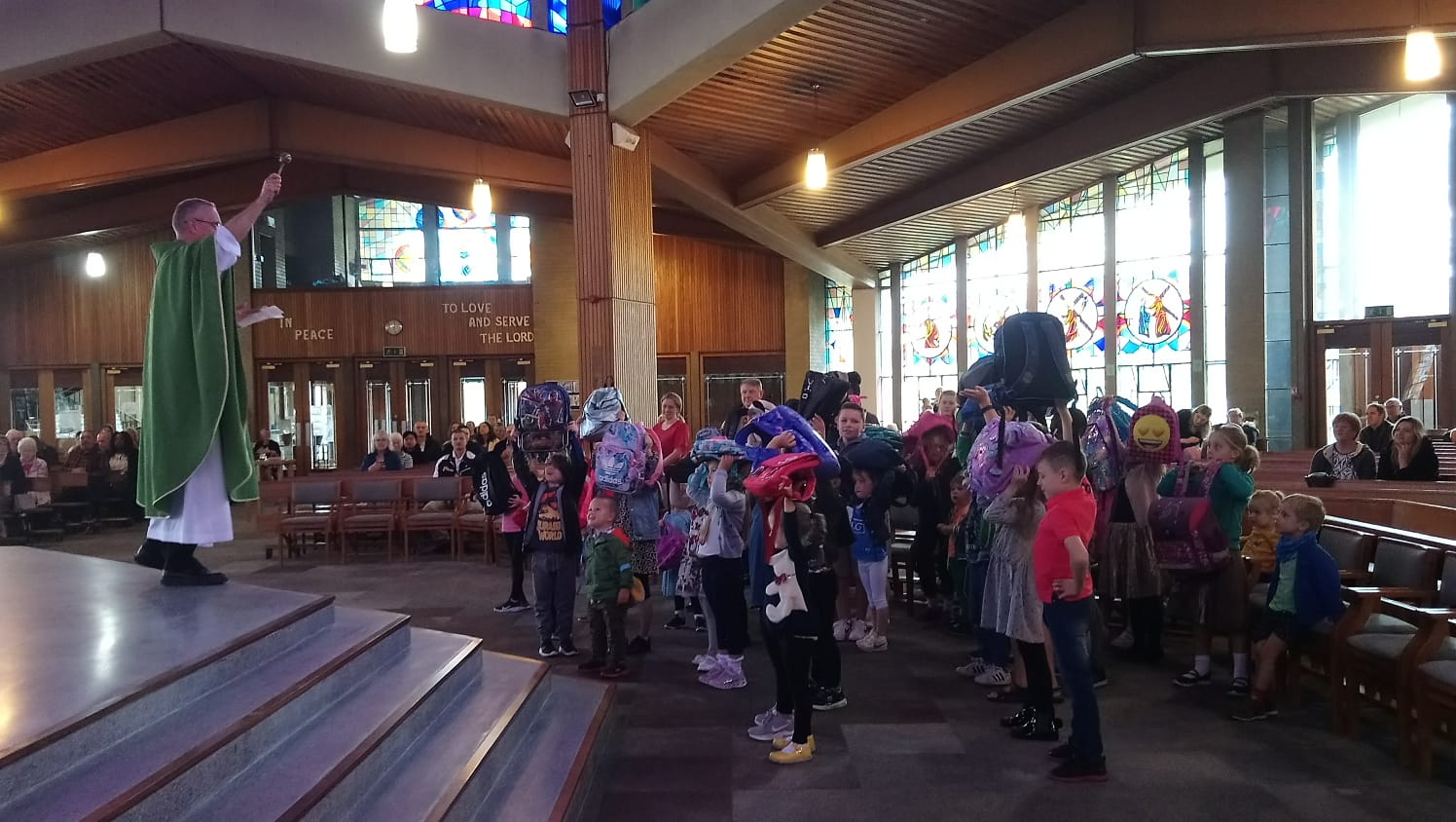 Blessing of the Schoolbags