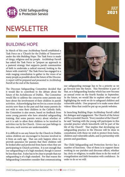 Child Safeguarding & Protection Service Newsletter - July 2021
